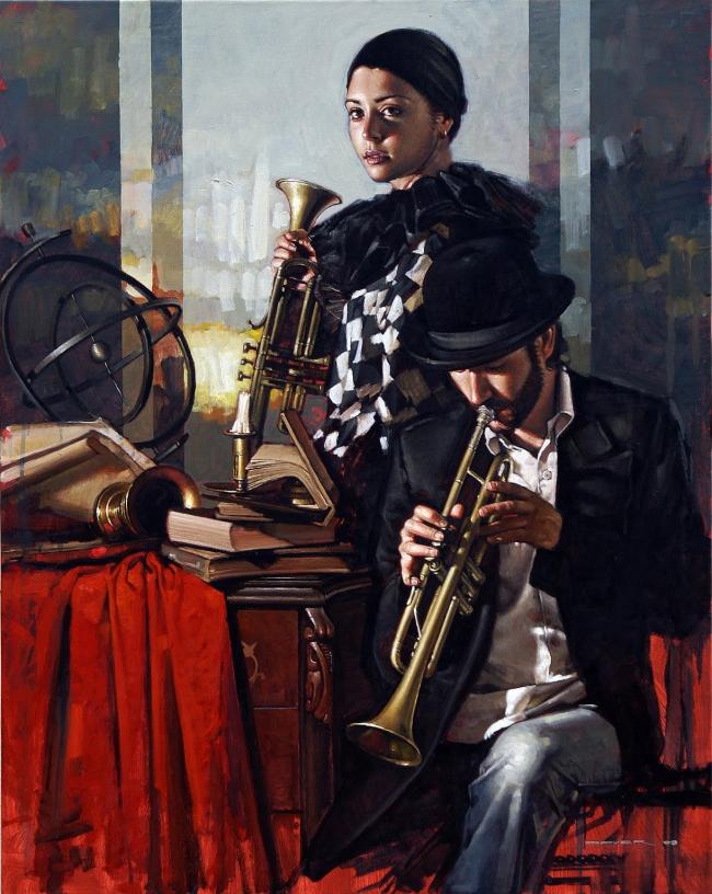 Diego Dayerun-musico-con-su-musa-de-arlequin-diego-dayer-2009-18042111.jpg