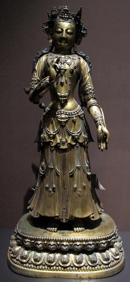 Dinastia_ming,_bodhisattva_con_marchio_dell\'imperatore_yongle,_da_hebei,_1403-1424_ca..JPG