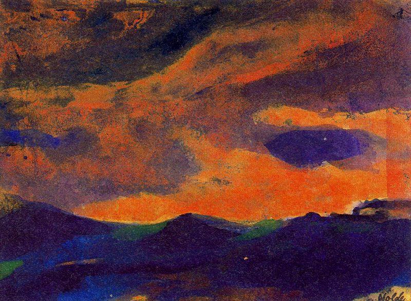 Emil Nolde - Dark Sea with Brown Sky.jpg