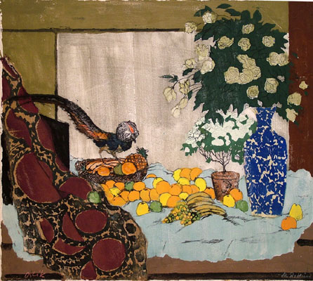 Emil Orlik, Still life with fruit, flowers and a pheasant, 1905.jpg