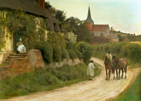 Evening in the Village, by Henry John Yeend King.jpg