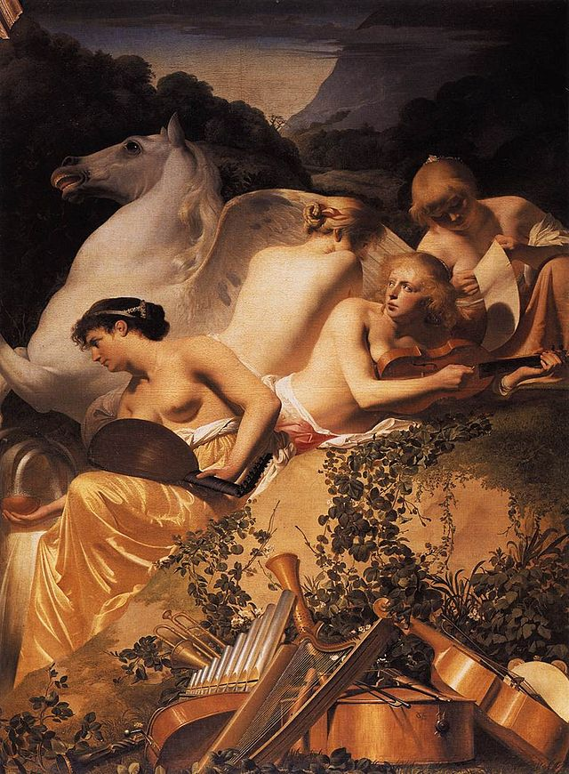 Everdingen,_Caesar_van_-_Four_Muses_and_Pegasus_on_Parnassus_-_c._1650.jpg