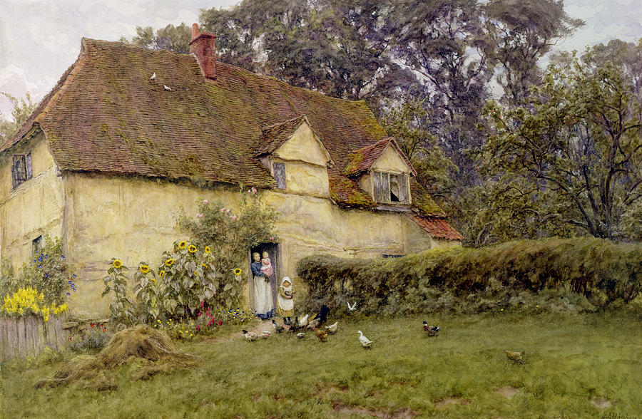 feeding-the-fowls-helen-allingham.jpg