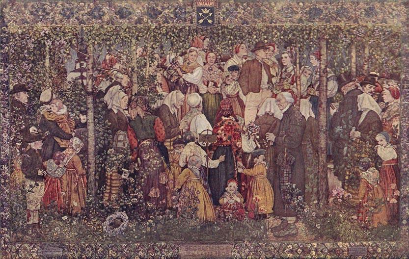 ferdinand&anna boberg-nordiska kompaniet-1908-funeral at leksand,dalecarlia,sweden tapestry.jpg