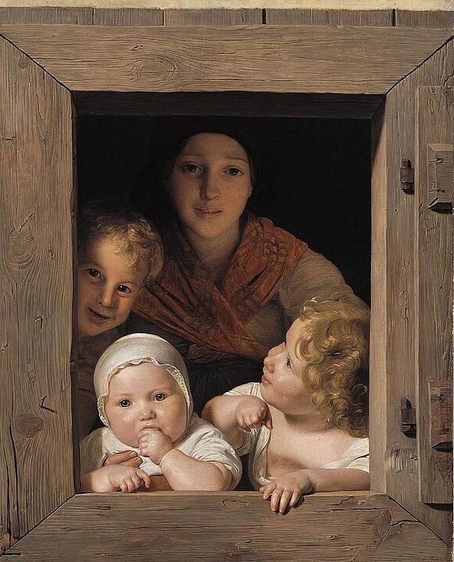 Ferdinand_Georg_Young_Peasant_Woman_with_Three_Children_at_the_Window.jpg