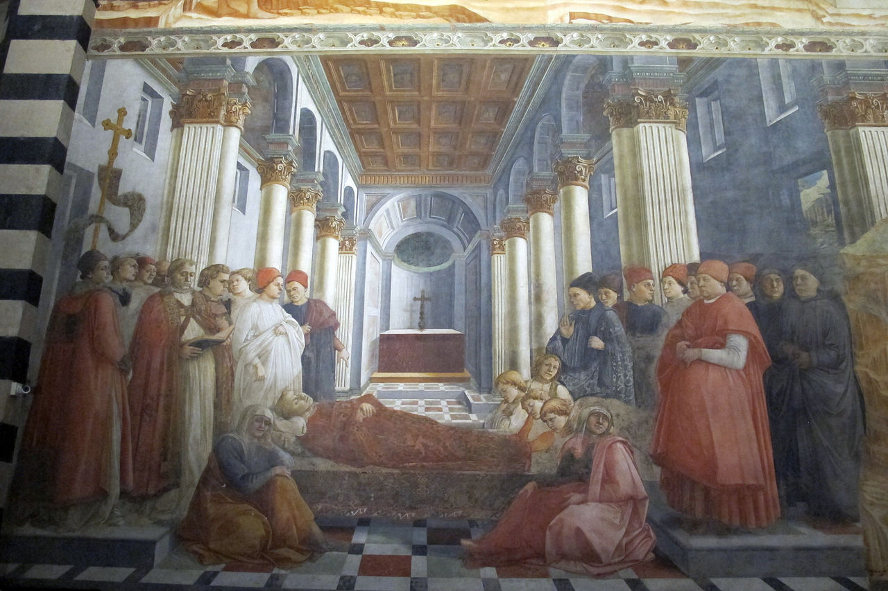 Filippo_lippi,_affreschi_del_1452-65,_esequie_di_s._stefano_01.JPG
