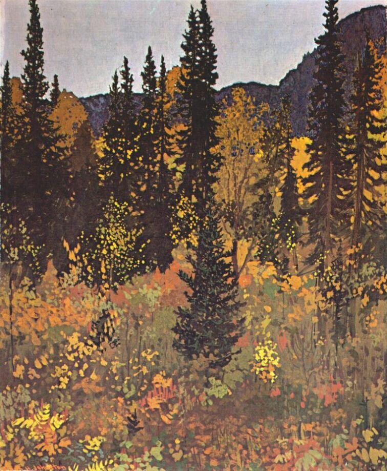 Frank-H-Johnston-The-Dark-Woods-Interior-c1921.jpg