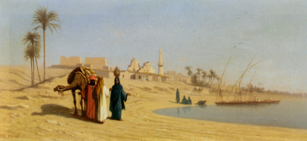 Frere_Charles_Theodore_The_Banks_of_the_Nile_Oil_on_Panel-large.jpg