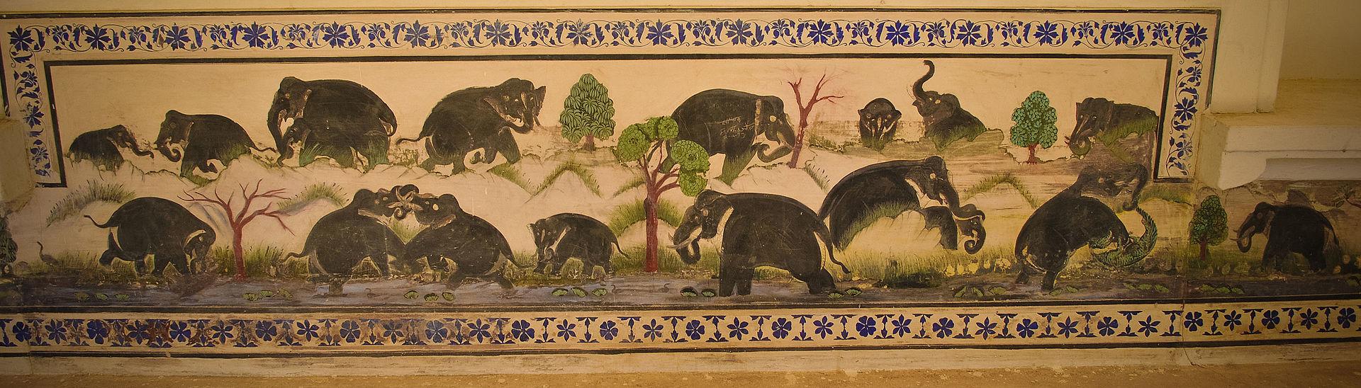 Fresco_on_a_wall_inside_Badal_Mahal,_Kumbhalgarh_fort,_Udaipur_01.jpg