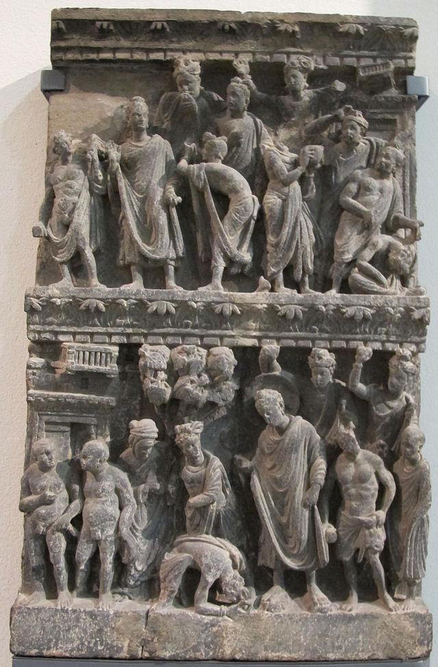 Gandhara,_rilievo_con_attentato_alla_vita_di_buddha,_100-200.JPG