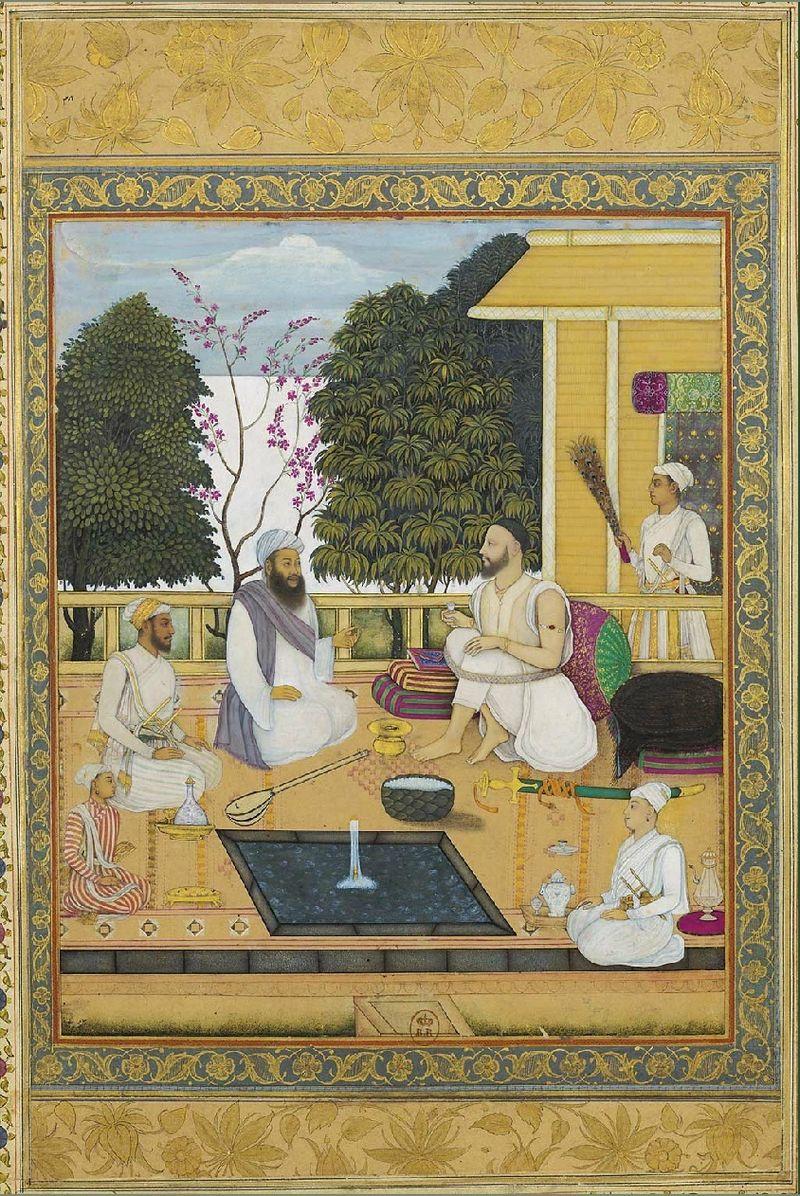 Govardhan_II,_Visit_of_sufi-singer_Shir_Muhammad_to_Abul_Hasan_Qutb_Shah,_ca._1720,_з.jpg