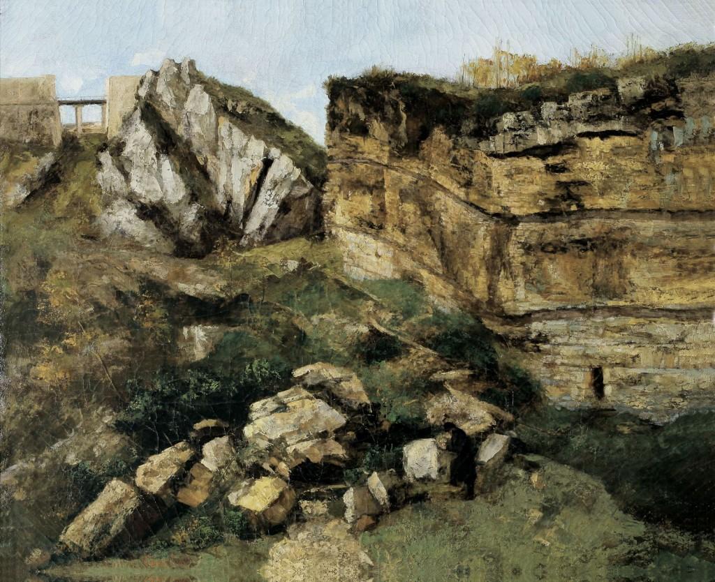 Gustave Courbet, La Roche Pourrie, étude géologique, 1864.jpg