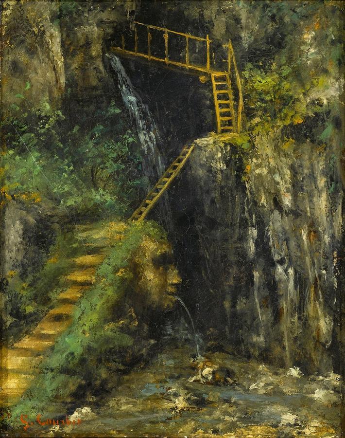 Gustave COURBET,Les Gorges de Saillon, 42x33cmh,1875.jpg