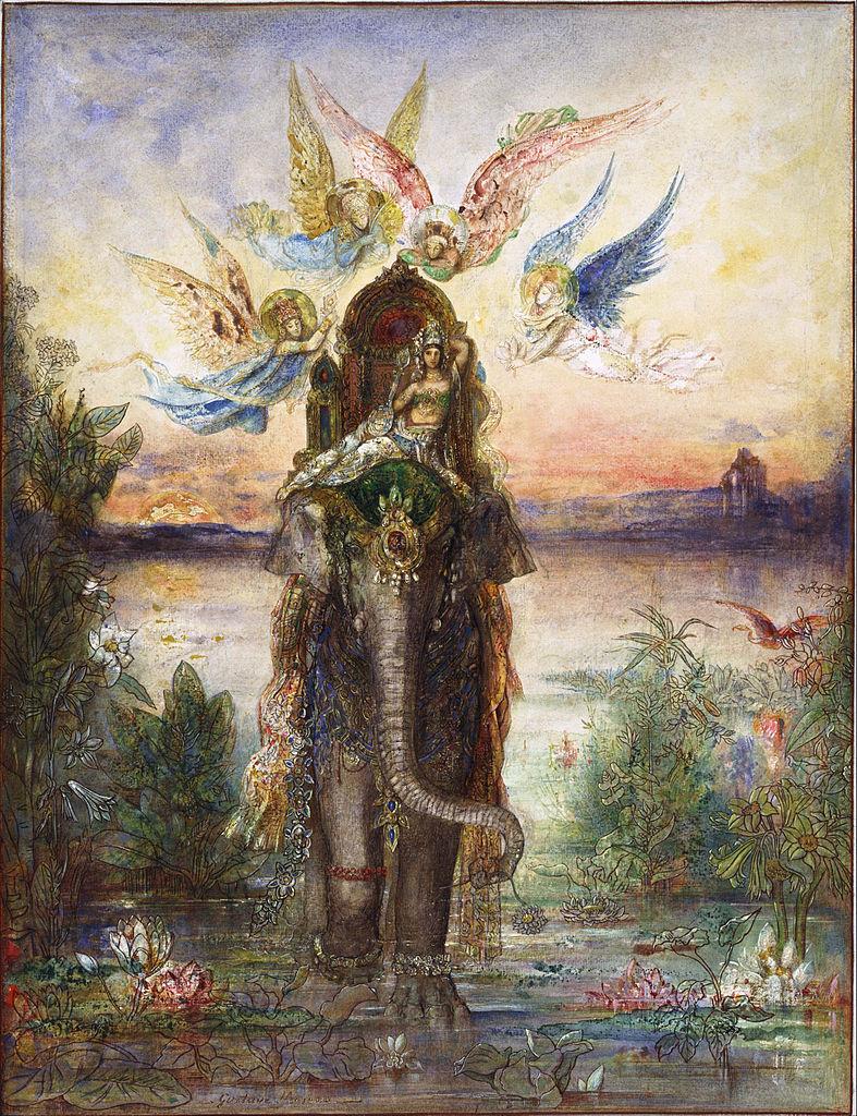 Gustave Moreau - The Sacred Elephant (Péri).jpg