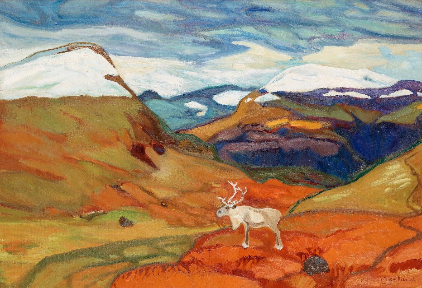 Helmer Osslund 1866-1938 Autumn landscape with reindeer.jpg