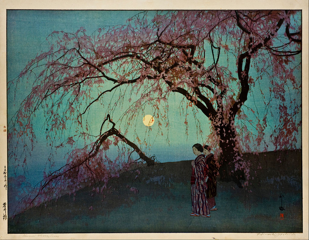 Hiroshi_Yoshida_-_Kumoi-Zakura_(Kumoi_Cherry_Trees)_-_Google_Art_Project.jpg