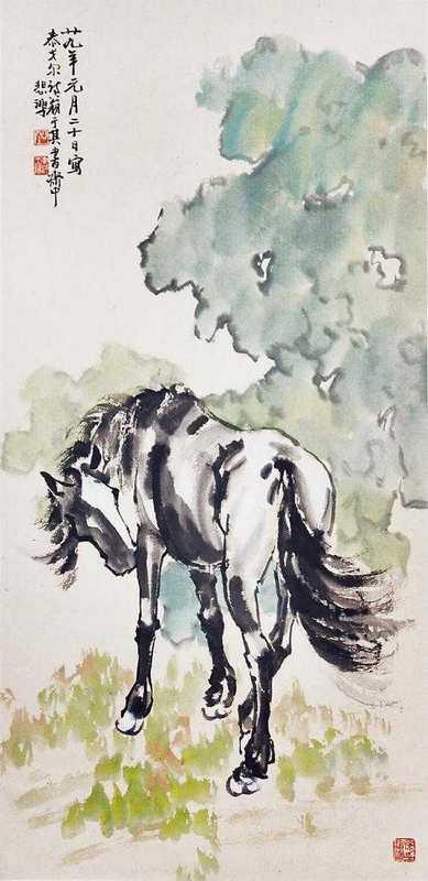 Horse_Standing_by_Xu_Beihong,_1940п.jpg