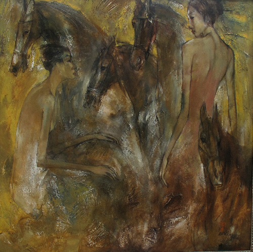 Hua Thanh Binhnude-and-horses-125x125-oil-on-canvas.jpg