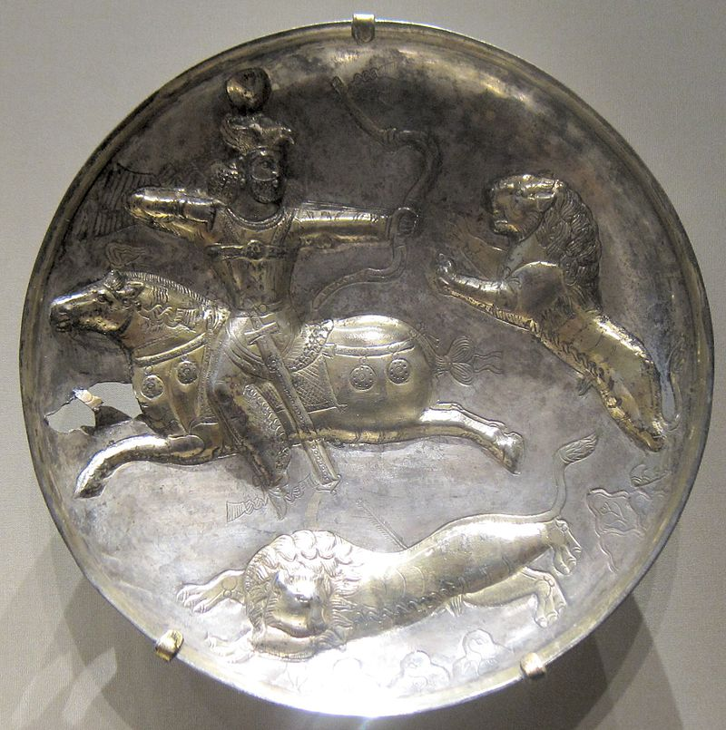 Hunting_king_plate,_303-309_CE,_silver,_Sasanian,_Cleveland_Museum_of_Art.JPG