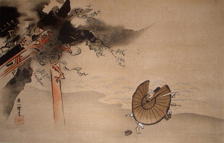 Itcho_Hanabusa,_The_Falling_Thunder_God.jpg