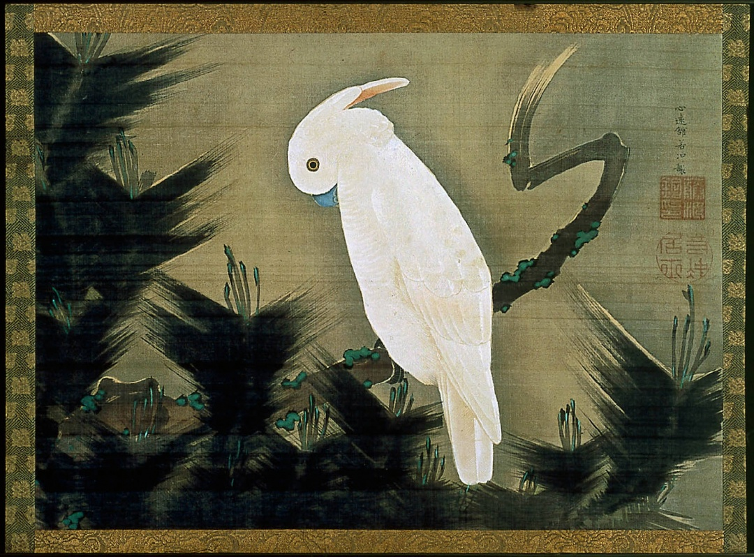 Ito-Jakuchu-White-Cockatoo-on-a-Pine-Branch-18th-Century-painting-artwork-print.jpg