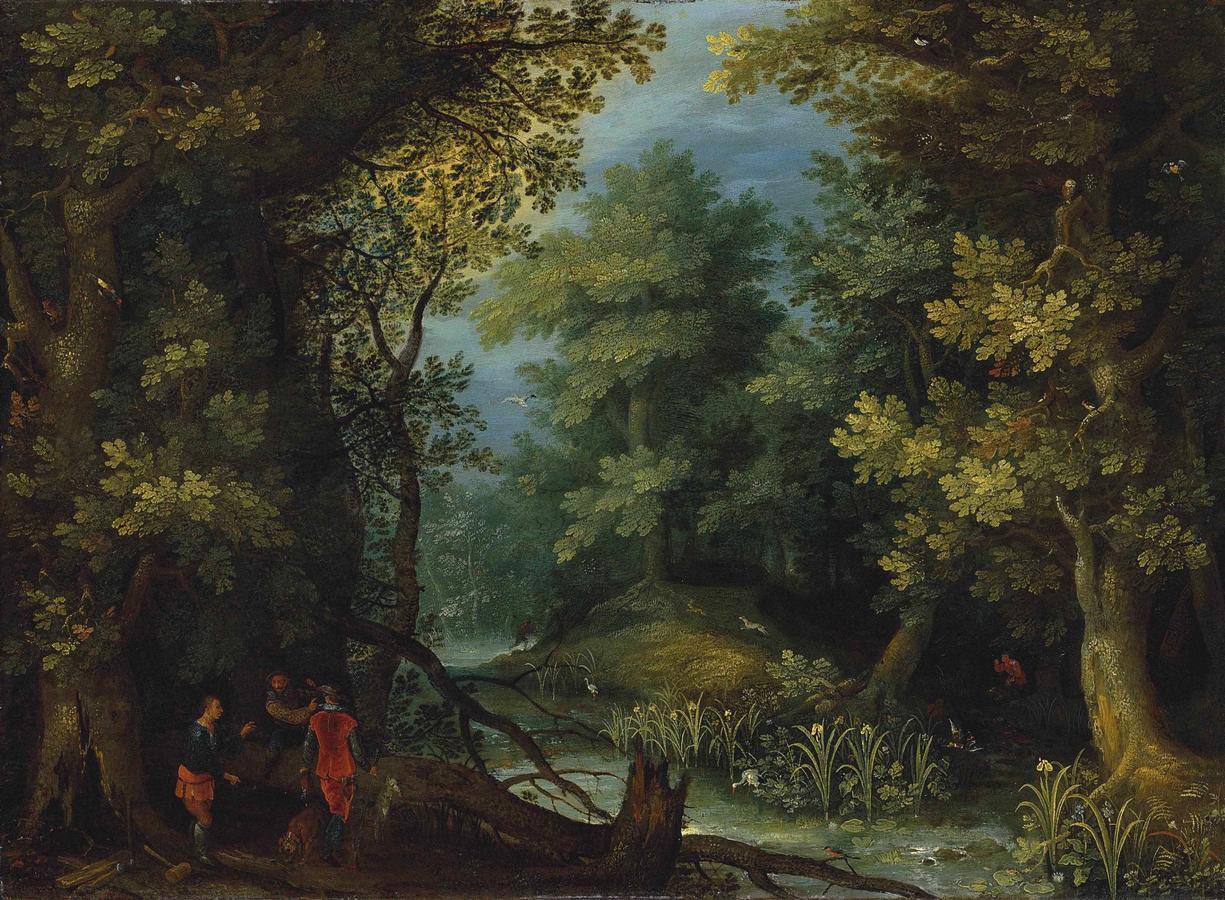Jan_Brueghel_de_Oude_-_Jagers_met_honden_door_een_stroom_in_een_bebost_landschap.jpg