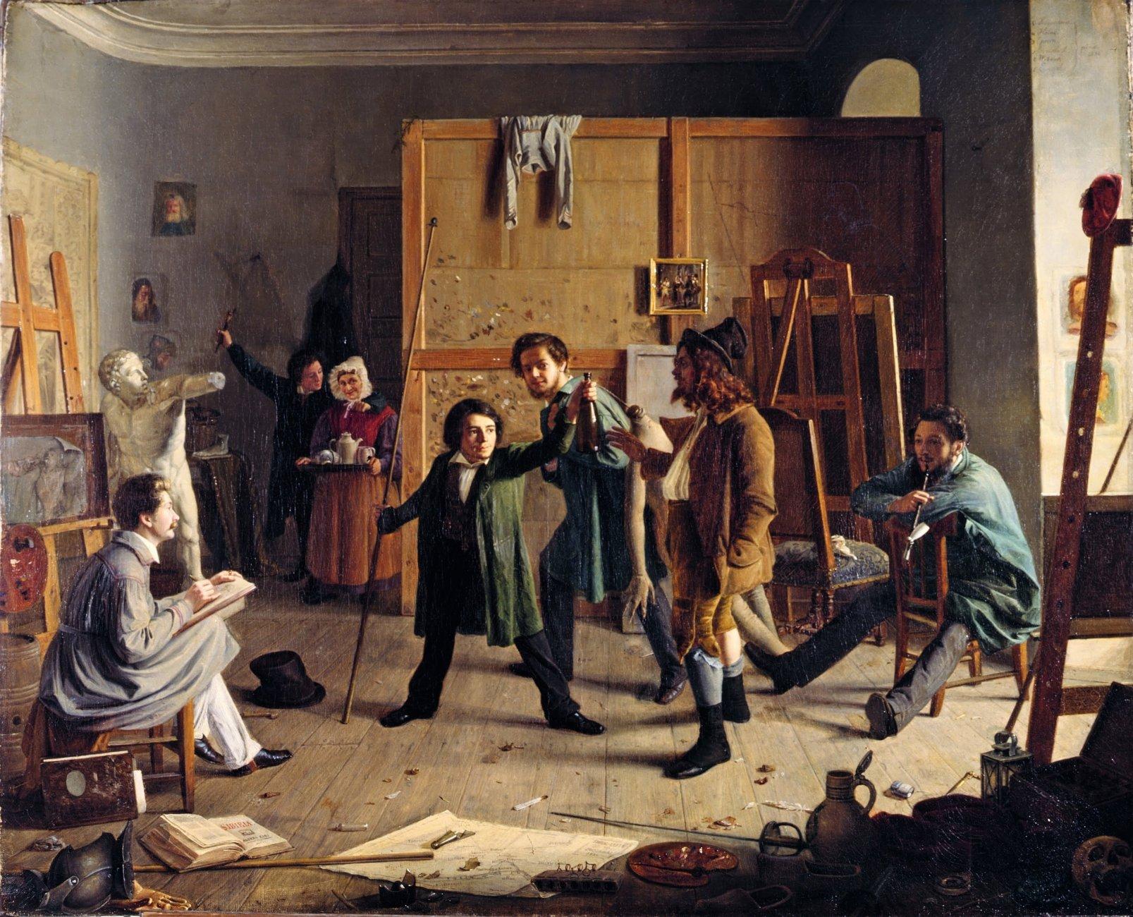 Johann_Peter_Hasenclever,_Atelierszene_1836.jpg
