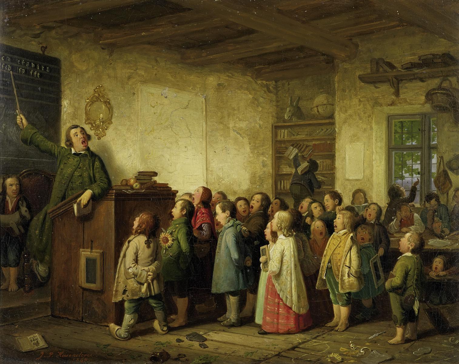 Johann_Peter_Hasenclever_-_Die_Dorfschule.jpg