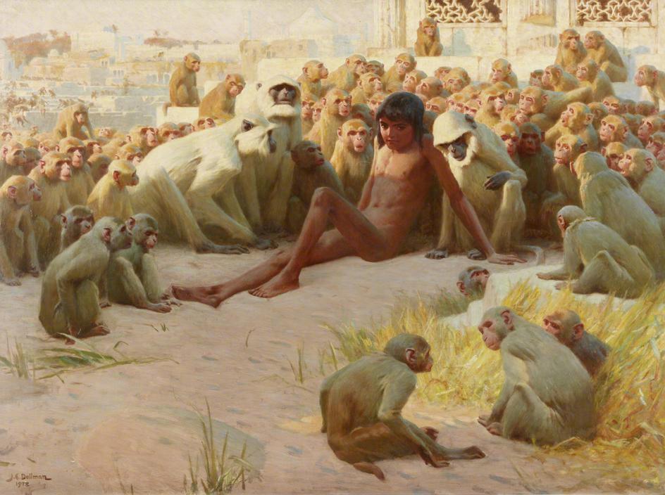 John_Charles_Dollman_-_Mowgli_made_leader_of_the_Bandar_Log.jpg