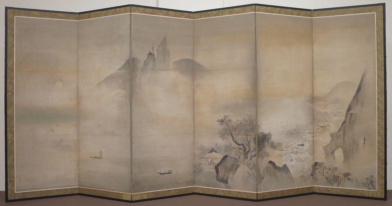 'Landscape',_attributed_to_Kano_Masunobu,_17th_century,_Honolulu_Museum_of_Art,_2014-7-01.JPG