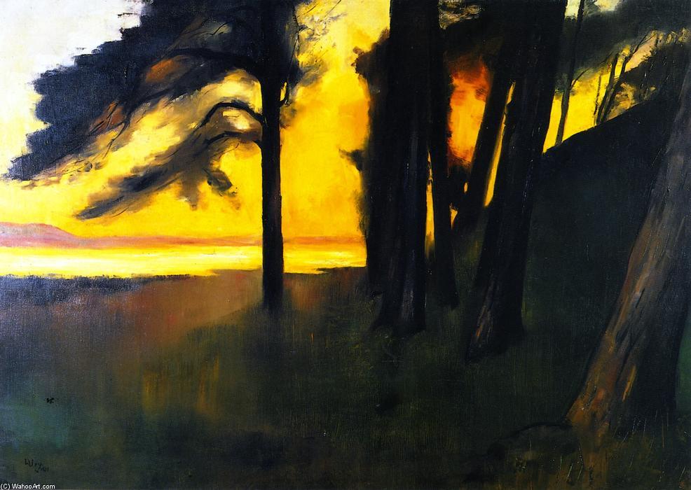 Lesser-Ury-Sunset-over-the-Grunewaldsee.JPG
