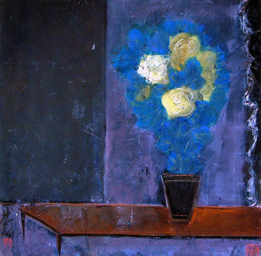 """Lin-Fengmian-""""A-Vase-of-Flowers-No.2"""".jpg"""