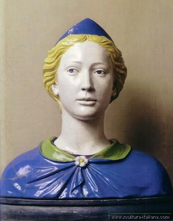 Luca Della Robbia - Busto di santa (Firenze, Museo Nazionale del Bargello, 1465-70) .jpg