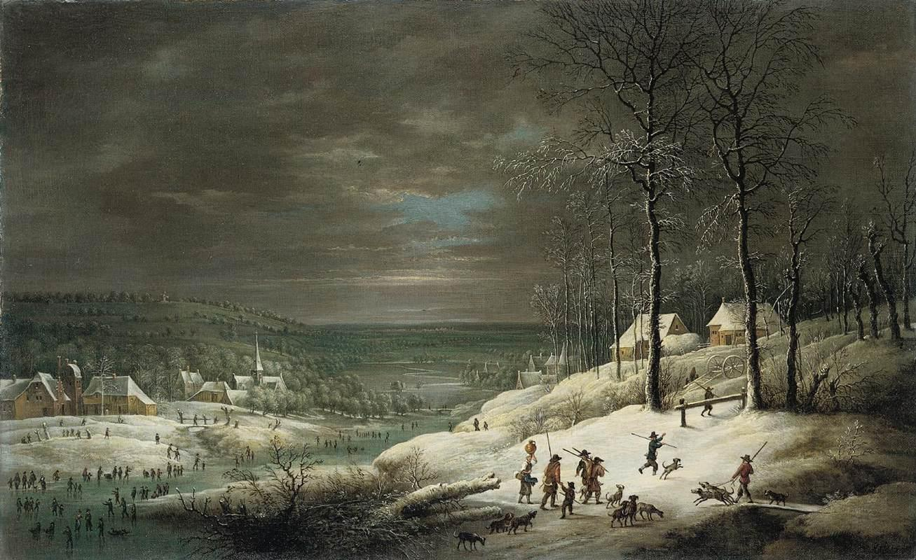 Lucas_van_Uden_-_Winter_Landscape_with_Hunters_-_WGA23251.jpg
