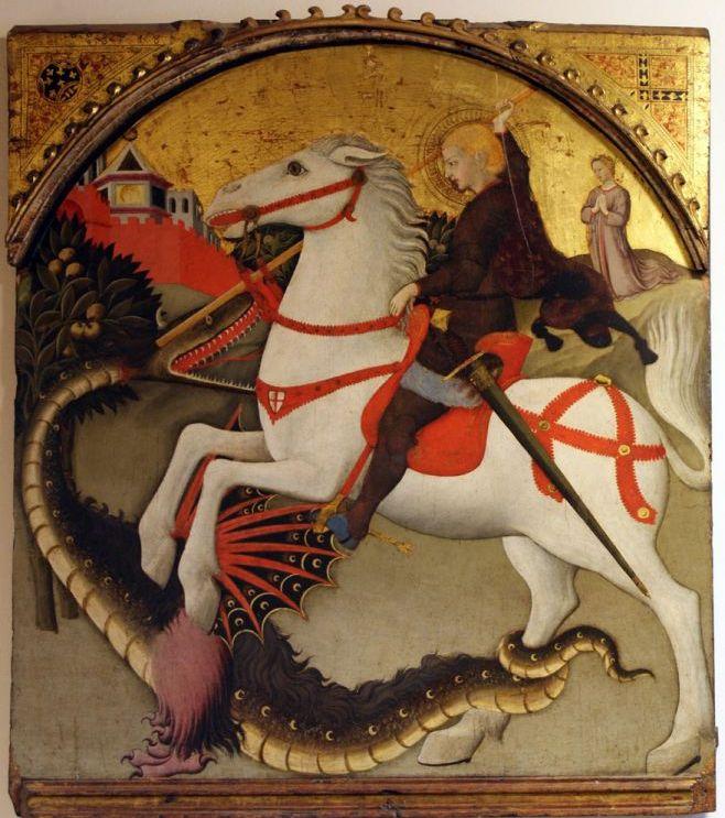 Maestro_dell\'Osservanza,_San_Giorgio_e_il_drago,_XV_secolo_Provenzano,_Museo_Diocesano.jpg