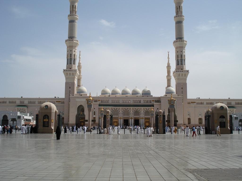 Masjid Al Nabawi in Madinah - Saudi Arabia (front).jpg