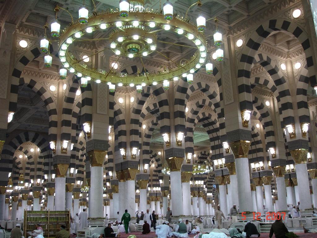 Masjid Al Nabawi in Madinah - Saudi Arabia (interior).jpg