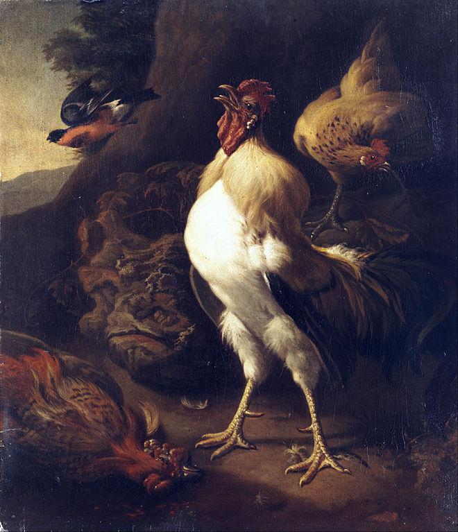 MELCHIOR DE HONDECOETER (1636- 1695).660px-Rooster_(in_the_style_of_Hondecoeter).jpg