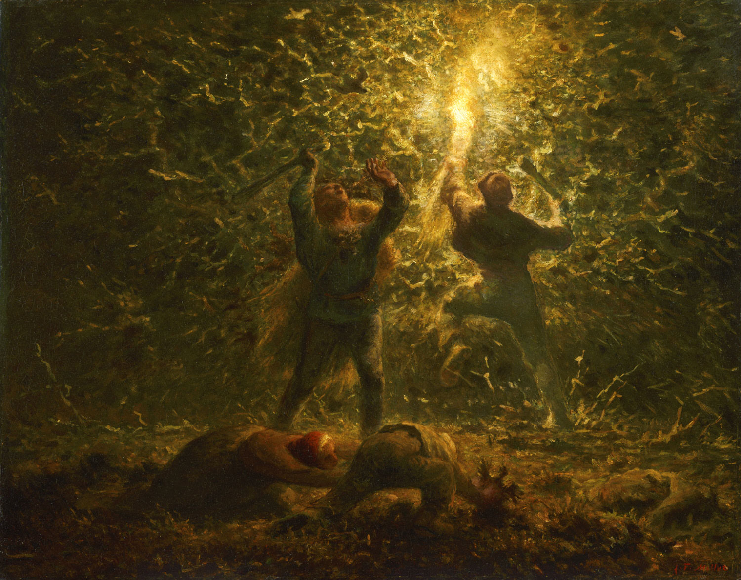 Millet,_Jean-François_II_-_Hunting_Birds_at_Night.jpg