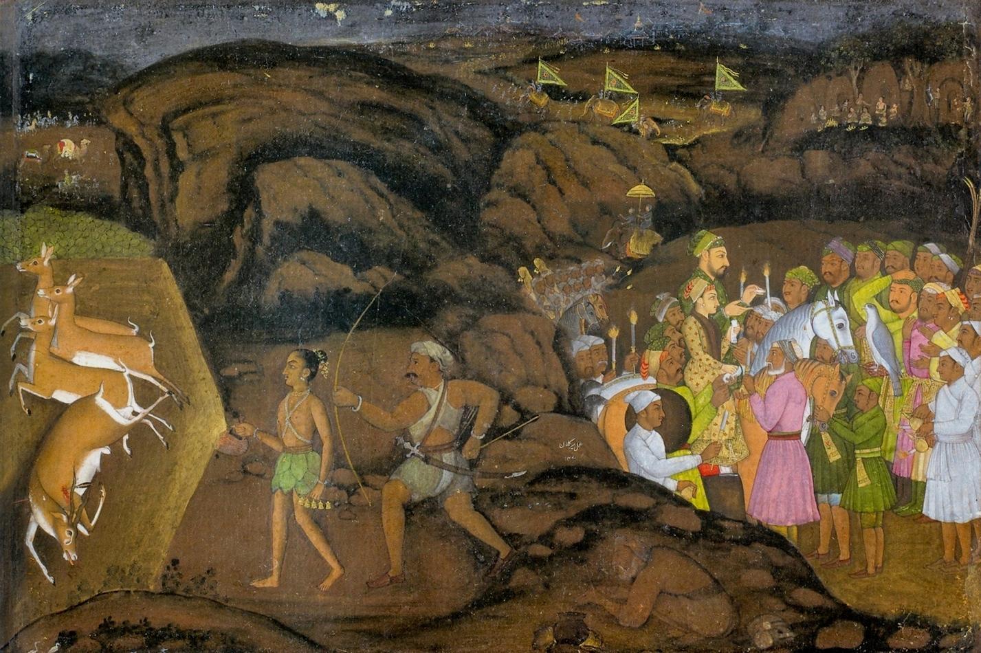 Mir_Kalan_Khan,_Hunting_Antelopes_at_Night._1734-35,_.jpg
