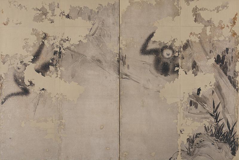 Monkey_byobu_by_Hasegawa_Tohaku_(Ishikawa_Nanao_Art_Museum).jpg