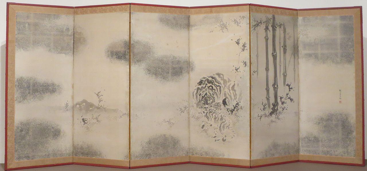 'Mother_Tiger_and_Cub'_by_Kishi_Ganku,_19th_century,_Honolulu_Museum_of_Art,_2012-30-02.JPG