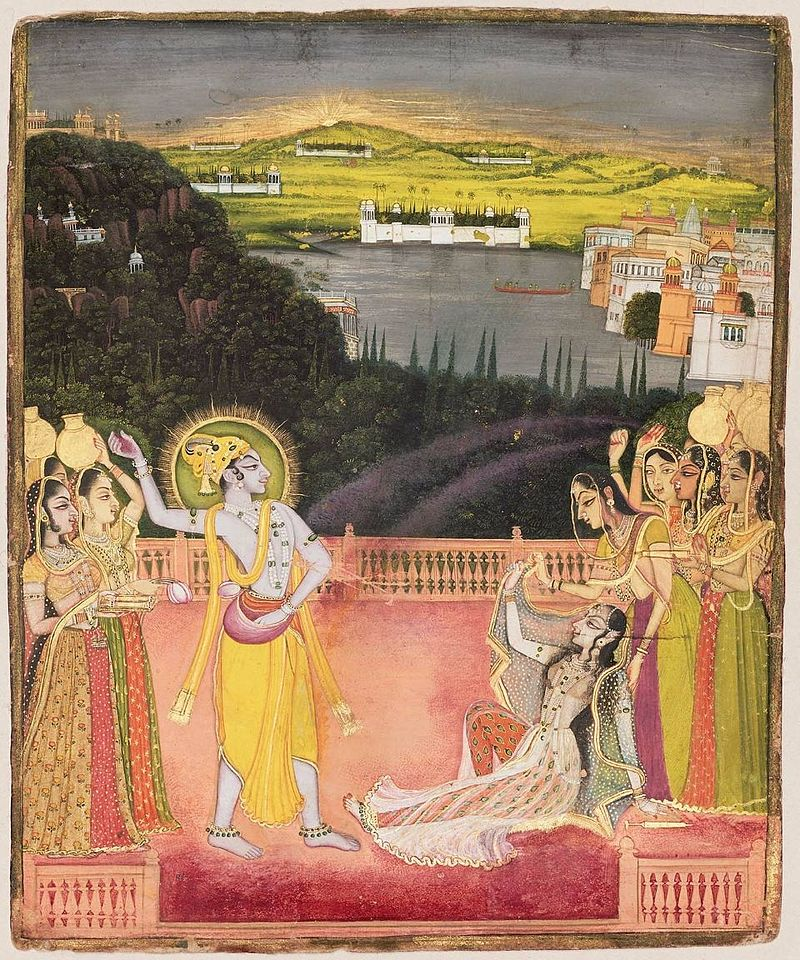 Nichal_Chand_(attr)_Krishna_Celebrates_Holi_with_Radha_and_the_Gopis_1750-60.jpg