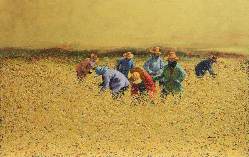 Nostalgia-Isaan-Farmer-Serie-by-Anurak-Namaphai-Mixed-medias-on-canvas-70X110-cm-2014-870.jpg