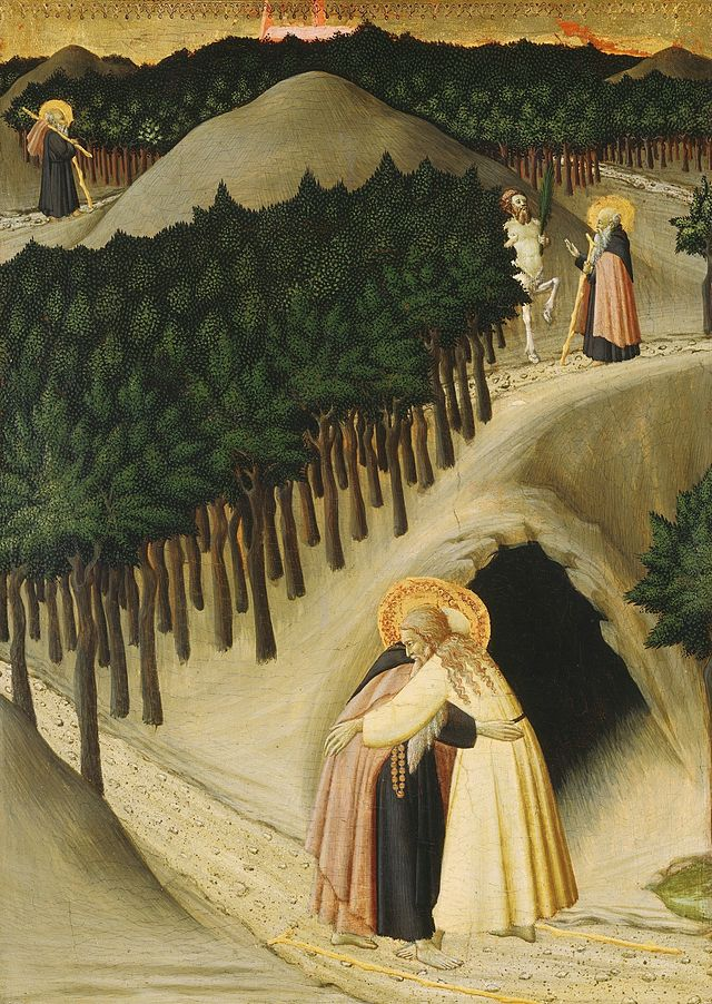 Osservanza_Master._The_Meeting_of_Saint_Anthony_and_Saint_Paul._1430-35,_Washington_NGA.jpg