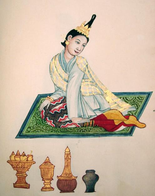 Painting_of_Wife_of_a_Burmese_King\'s_Merchant_of_Konbaung_Dynasty.jpg