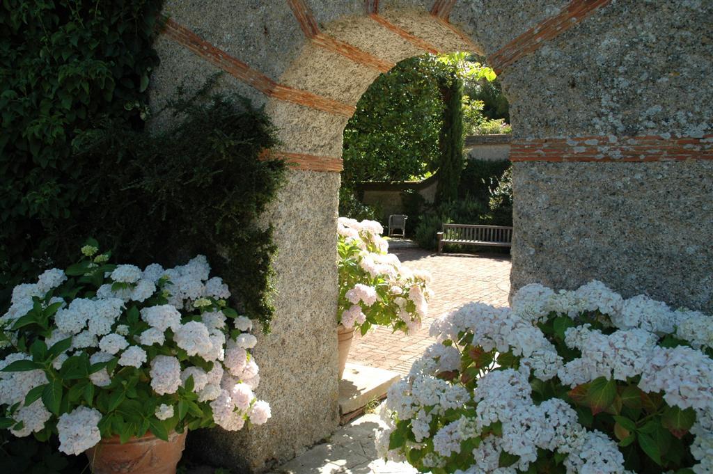 Parc des Moutiers doorway hydrangeas.JPG