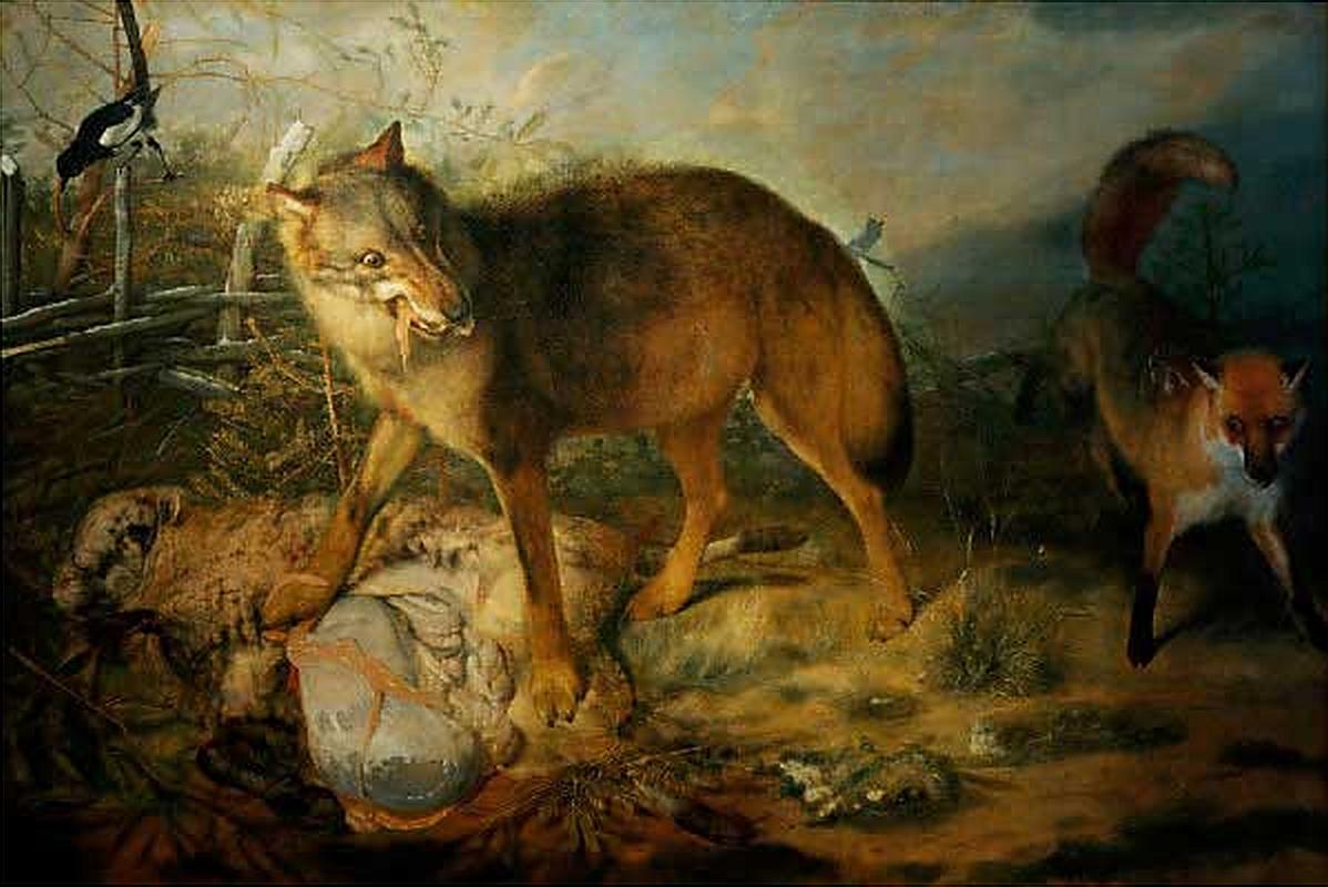 Paudiss,_Christopher_—_Wolf,_Fuchs_und_Schaf_—_1666.jpg