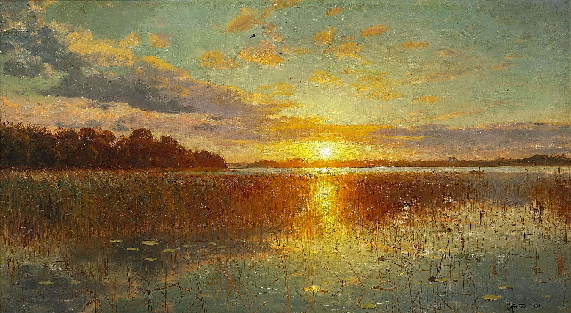 Peder_Mønsted_-_Sunset_over_a_Danish_Fiord.jpg