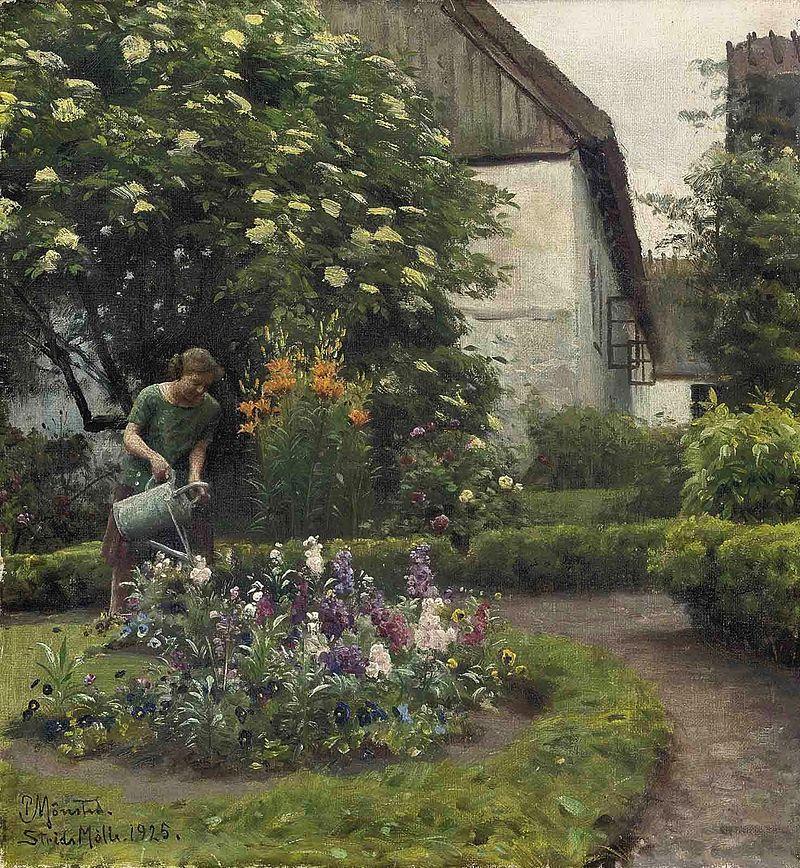 Peder_Mønsted_-_Watering_the_garden.jpg
